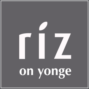 Riz on Yonge logo 570 x 570 pixels.